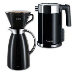 Graef El-kedel 1,5 L inkl. tragt og Alfi termokande 1 L.
