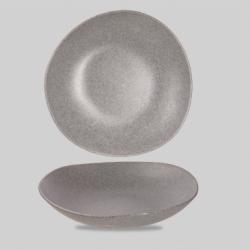 Melamine dybtallerken 38 cm. (granit/grå) Churchill