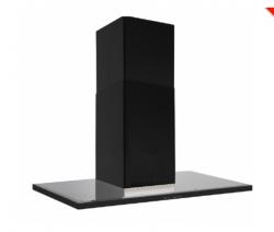 Silverline Nordic Dark 80 cm, sortm/sort glastop