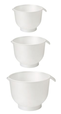 Røreskåle, sætpris med 3 skåle