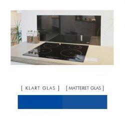 Firkantet stænkpanel i jernfrit glas  - Blå - Flere størrelser