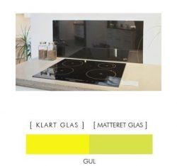 Firkantet stænkpanel i jernfrit glas  - Gul- Flere størrelser