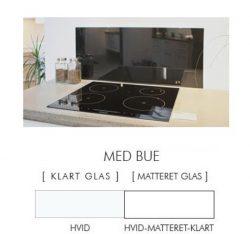 Firkantet stænkpanel i jernfrit glas  - Hvid - Flere størrelser