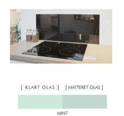 Firkantet stænkpanel i jernfrit glas  - Mint - Flere størrelser