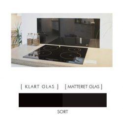 Firkantet stænkpanel i jernfrit glas  - Sort - Flere størrelser