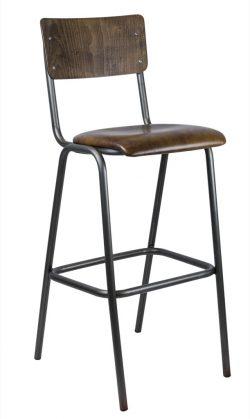 Oldschool Barstol fra Skool - Læder/Læder