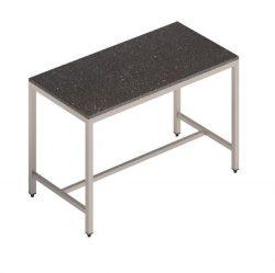 Udekøkken/stålbord m. granitbordplade - mange længder & farver