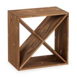 Cube vinhylde i mørk Eg, plads til 24 flasker fra Gastro De Luxe