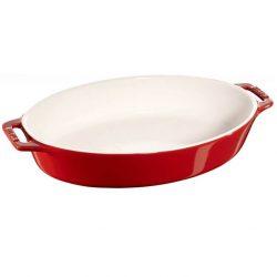 Staub ovalt tilberednings fad, Kirsebær- keramik - Flere størrelser