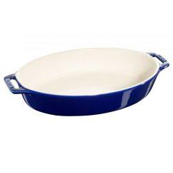 Staub ovalt tilberednings fad, Mørkeblå - keramik - Flere størrelser