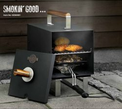 Electric smoker oven,1 layer mat black 1100W, square
