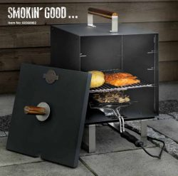 Electric smoker oven,3 layer mat black 1300W, square