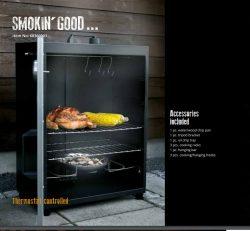 Electric smoker oven,3 racks, INOX door, mat black 1600W, cabinet