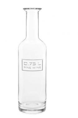 Optima vinkaraffel, klar, 75 cl – (H)29,2 cm